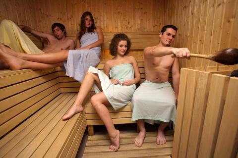 RR centrum, sauna