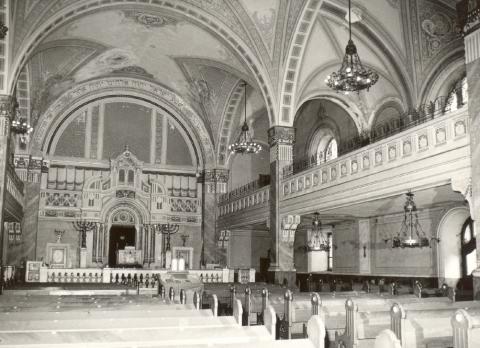 Historické fotky - Synagóga, interiér