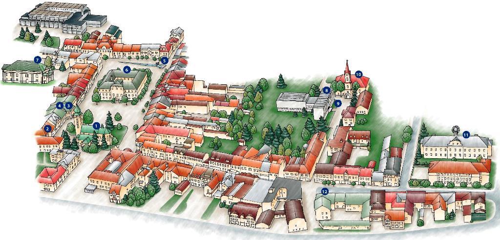 Mapa 12 naj historického centra