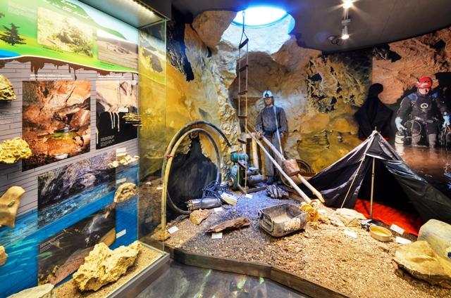 Expozícia Kras a jaskyne Slovenska