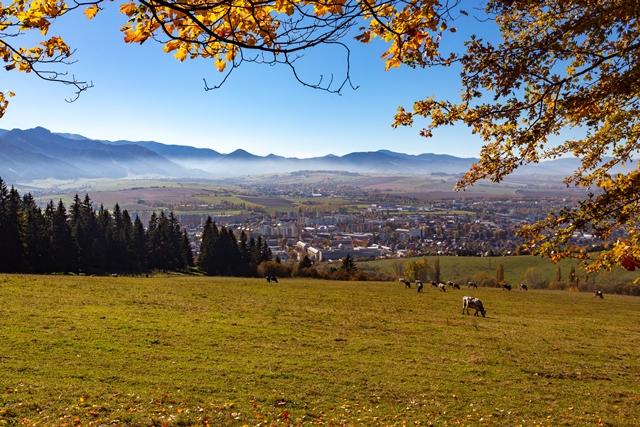Výhľad na mesto Liptovský Mikuláš