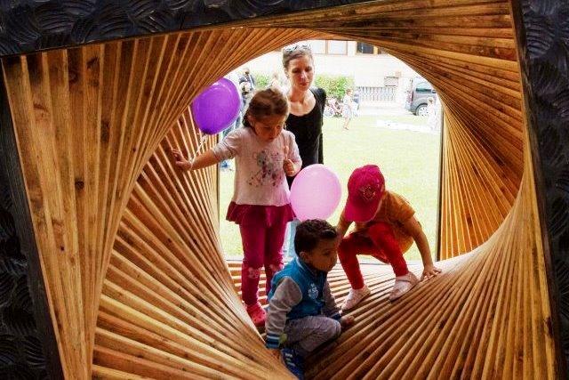 Detské ihrisko v galerijnej záhrade