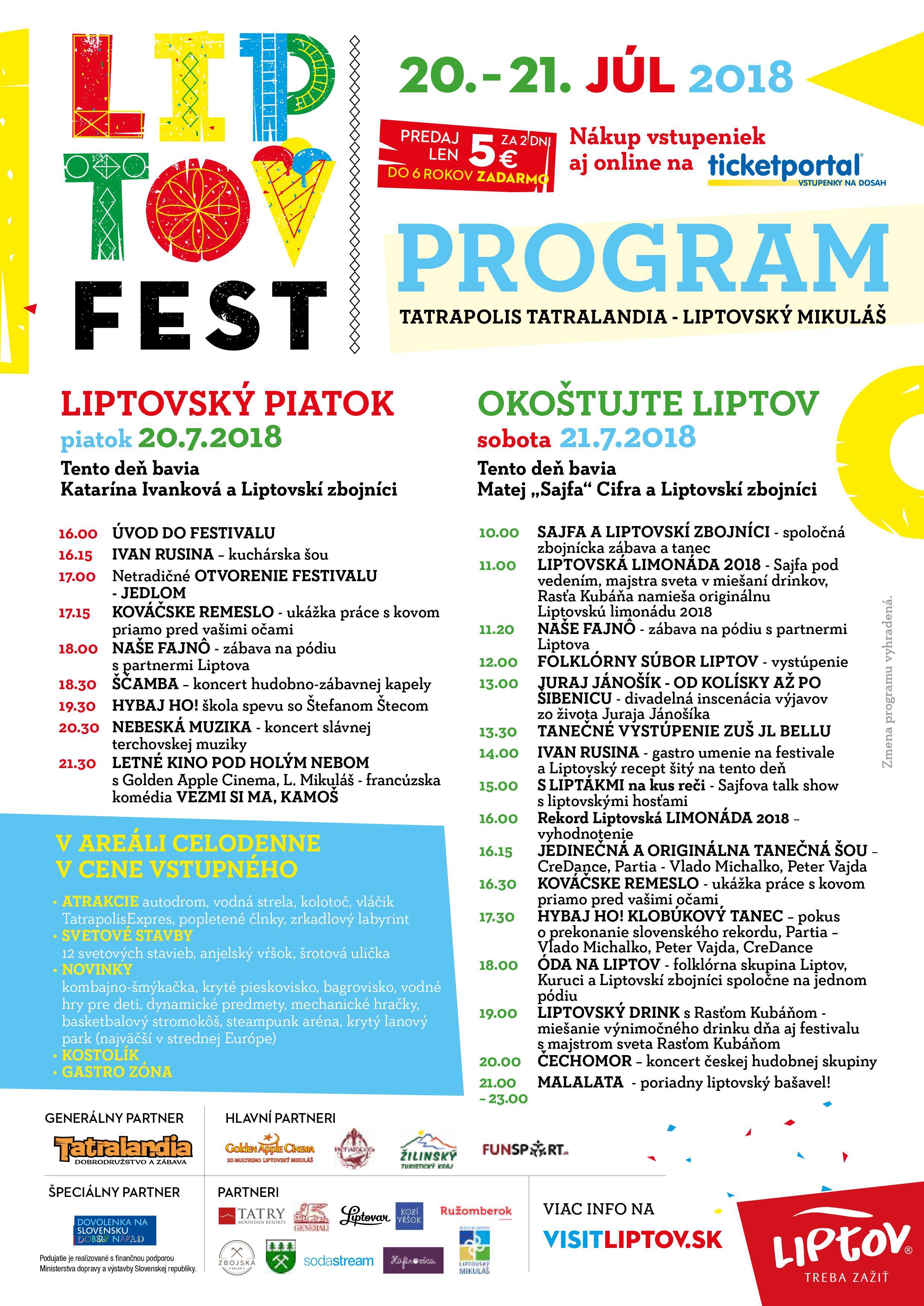Liptovfest zabaví aj prekvapí