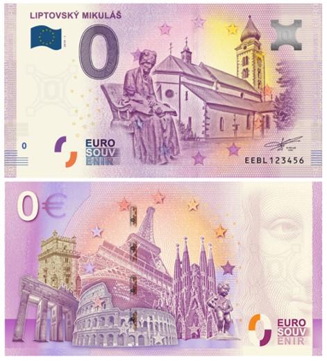 Mesto Liptovský Mikuláš bude mať svoju Euro souvenir bankovku