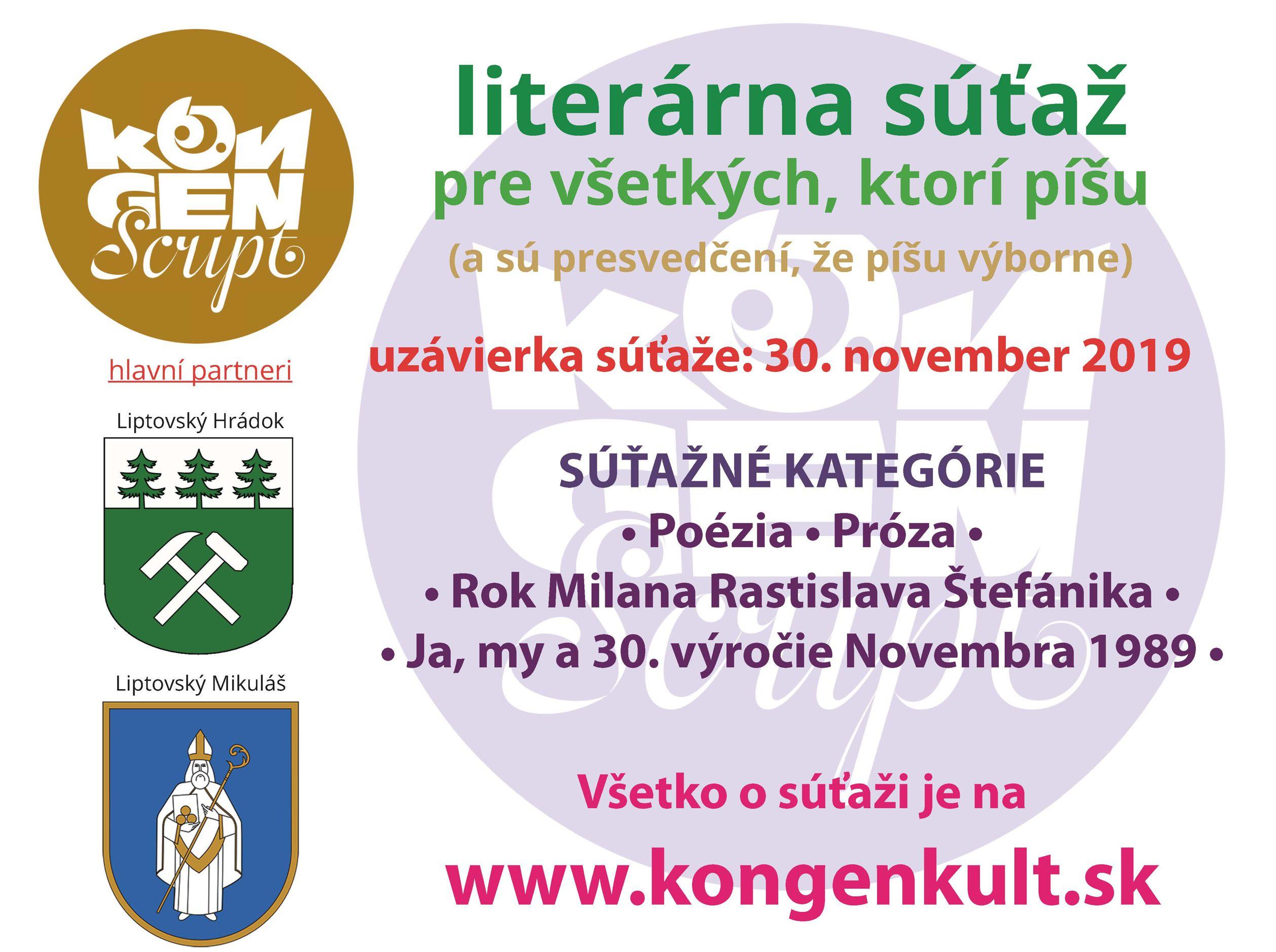 Literárna súťaž KongenScript 2019