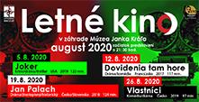 Letné kino – august 2020