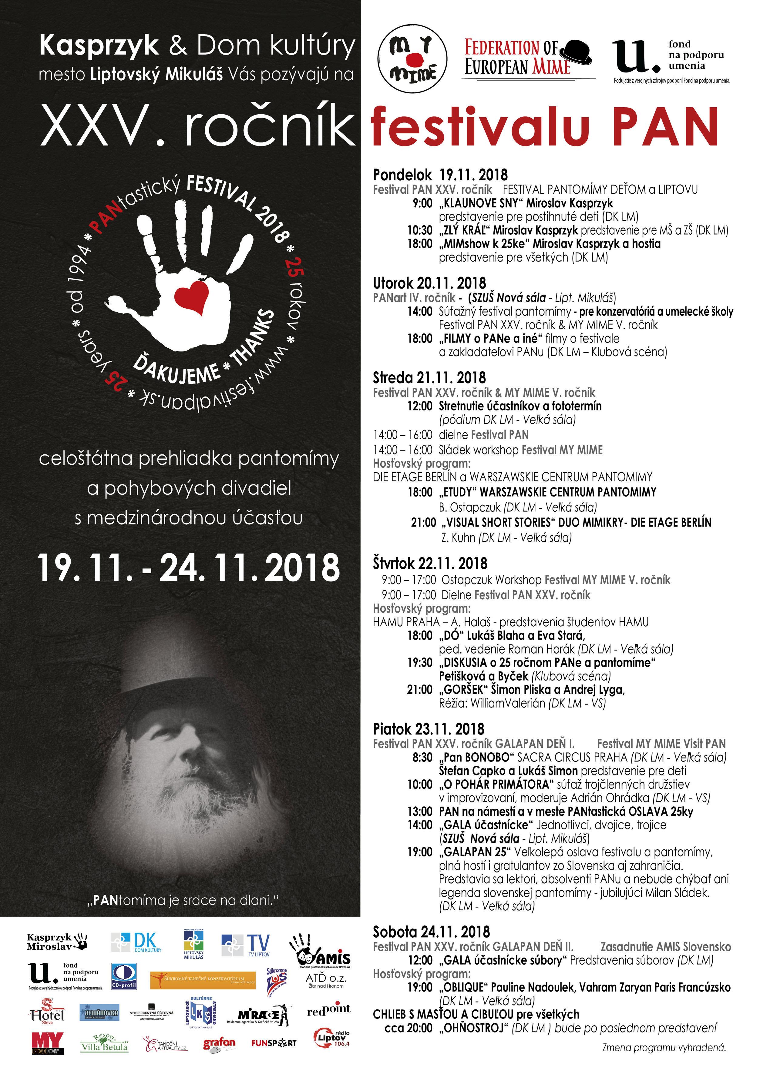 Jubilejný festival: Blahoželať prídu mímovia z celej Európy