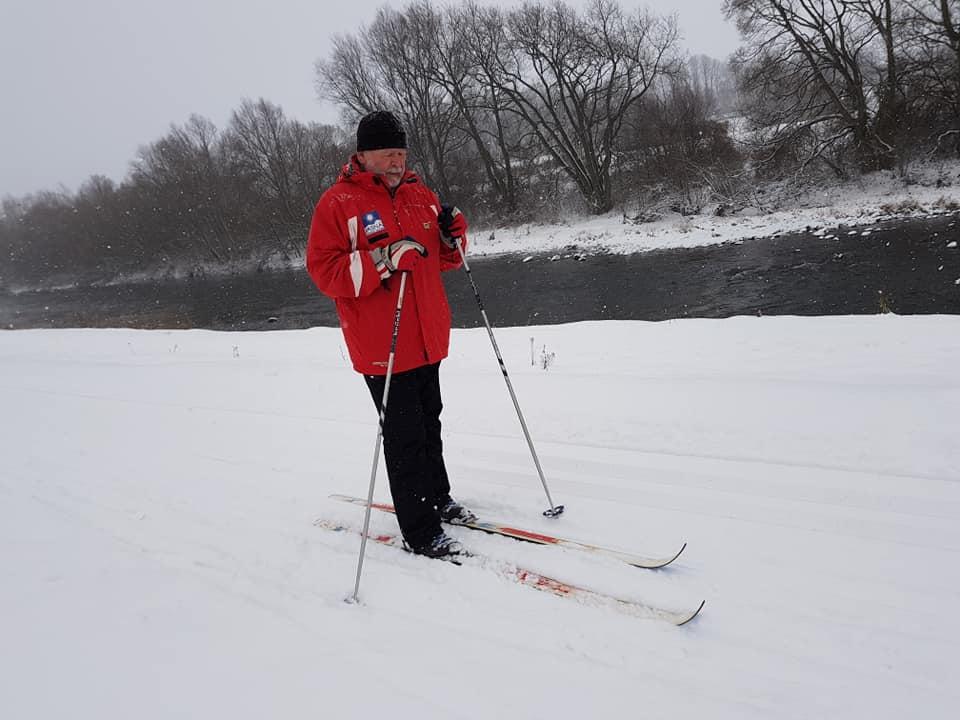 Popri Váhu sme vytvorili stopu pre bežecké lyžovanie