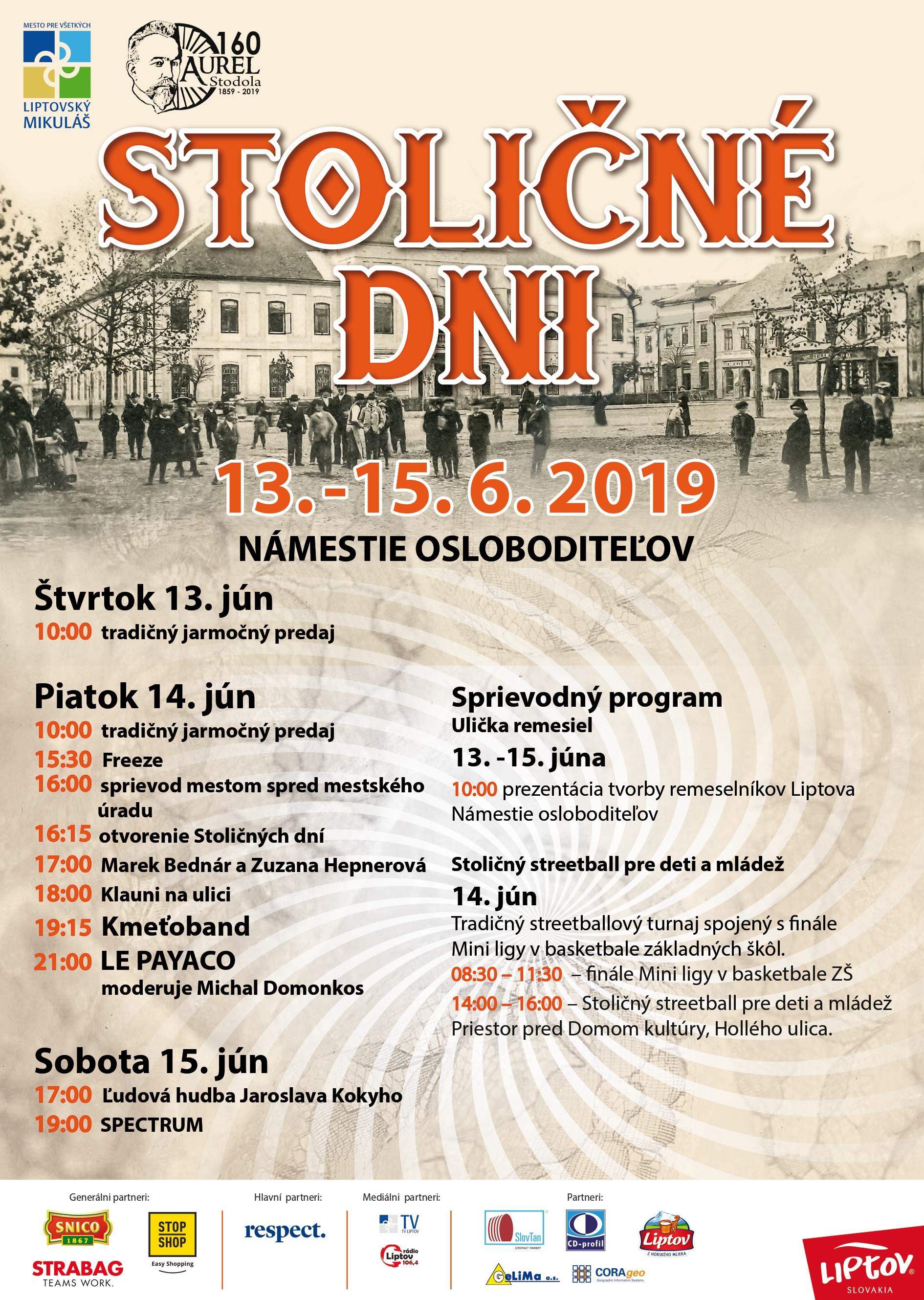 Stoličné dni budú patriť známym slovenským kapelám