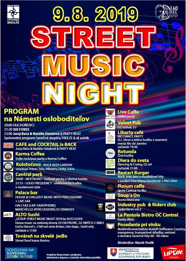 Street music night rozprúdi zábavu v meste
