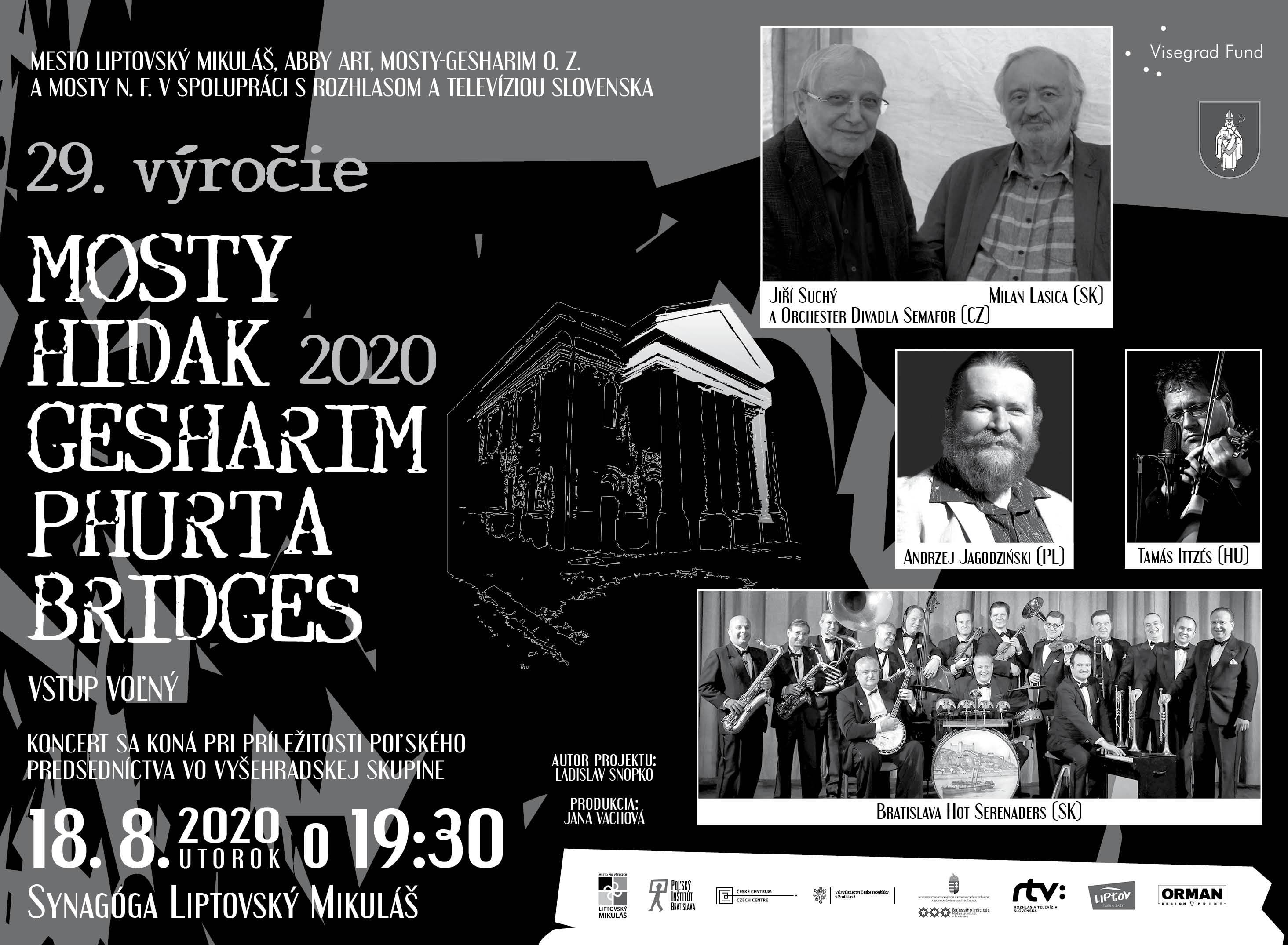 Mosty Gesharim 2020 pod taktovkou Lasicu a Suchého