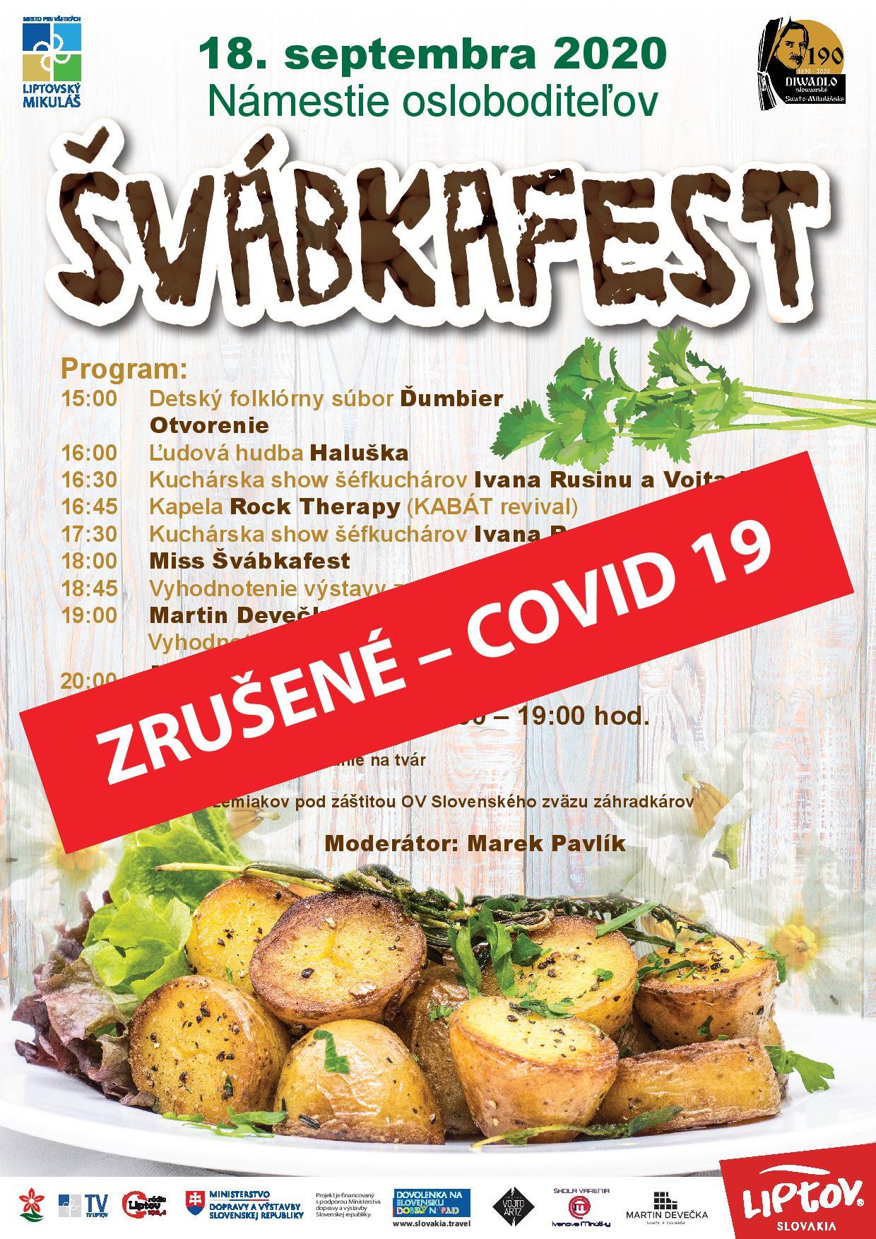 COVID-19: Podujatie Švábkafest je zrušené