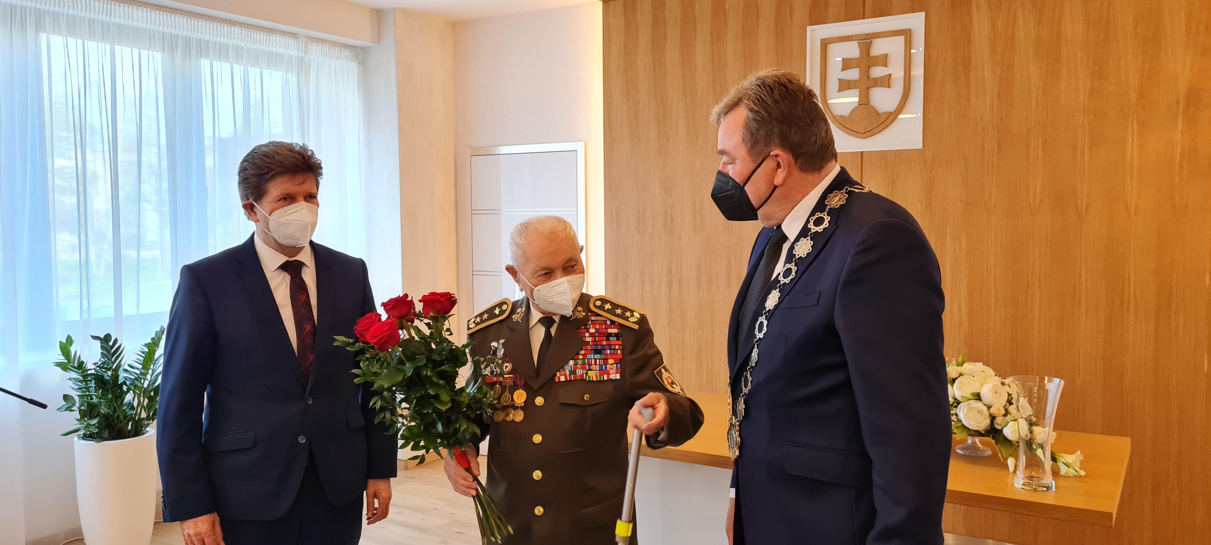 Generálmajor vo výslužbe Ján Iľanovský oslávil svoje 99. narodeniny