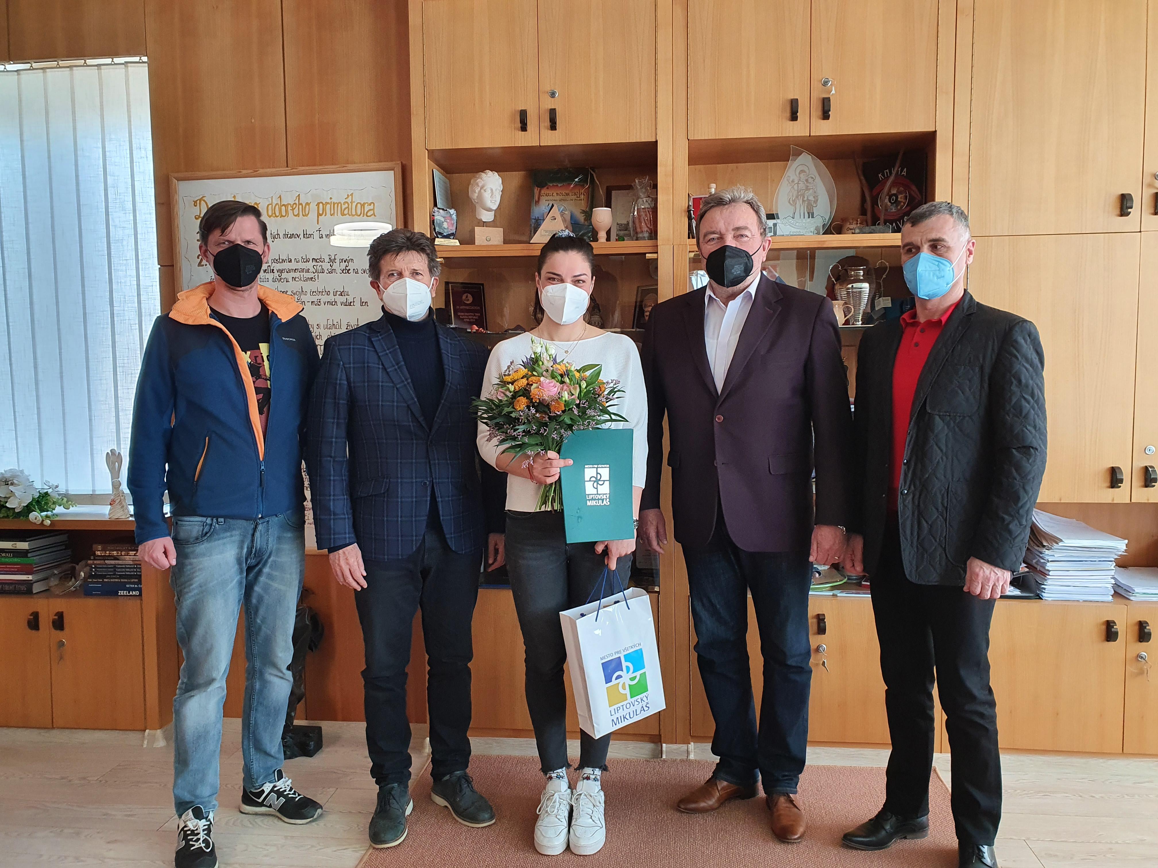 Privítali sme úspešnú lyžiarku Martinu Dubovskú