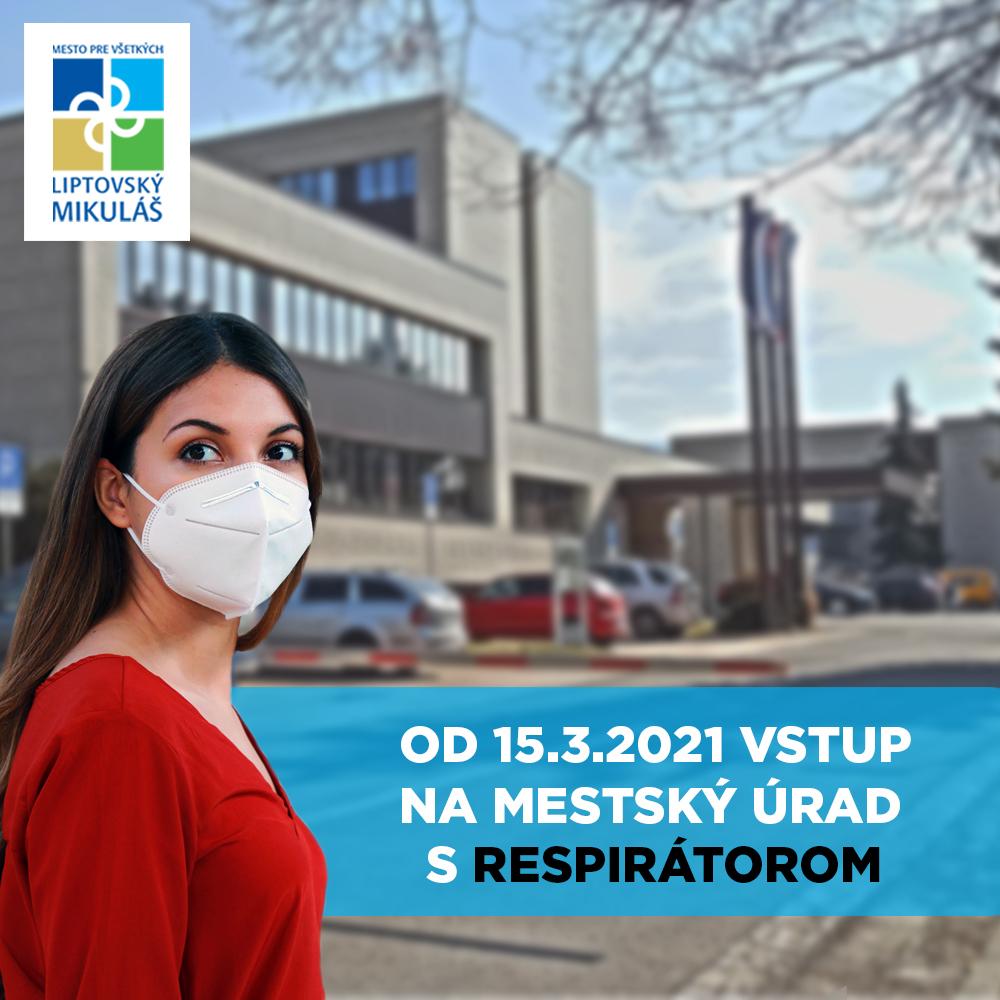 C⭕️VID-19: Aj na mestský úrad už len s respirátorom a negatívnym testom